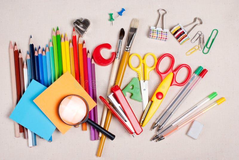 Download School supplies stock photo. Image of pencil, rainbow - 26072484