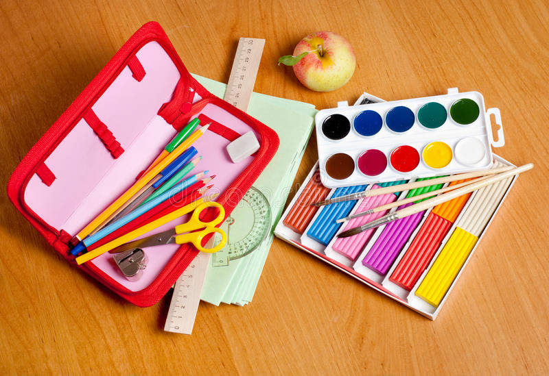 Download School supplies stock photo. Image of clip, drawing, learning - 26072558