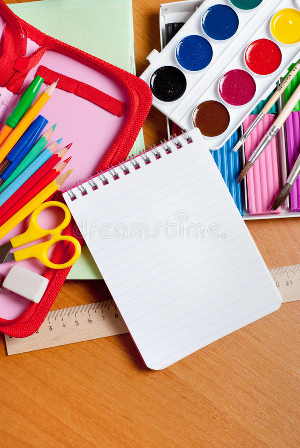 Download School supplies stock image. Image of brushes, child - 26072595