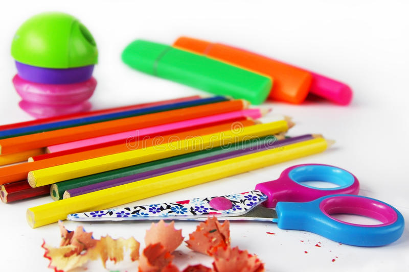 Download School supplies stock image. Image of education, crayons - 28899721