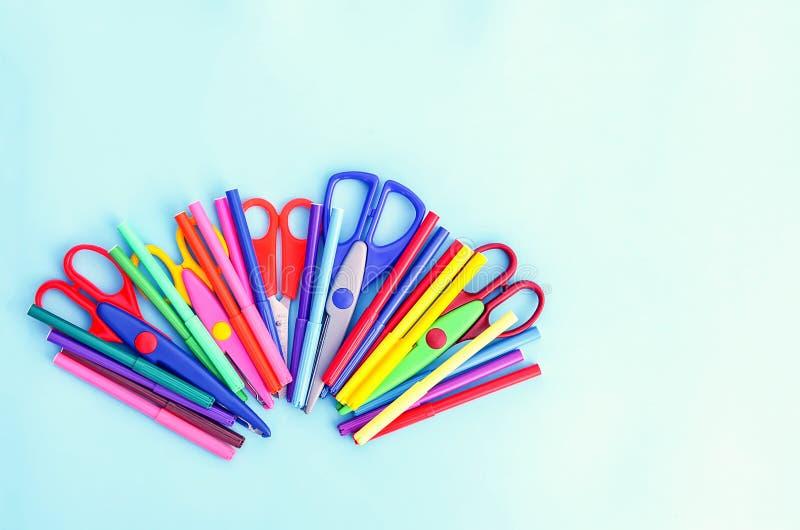 School supplies. Back to School design elements. stock photography