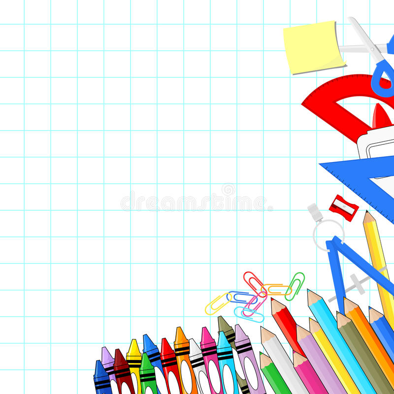Download School supplies background stock image. Image of background - 32649107