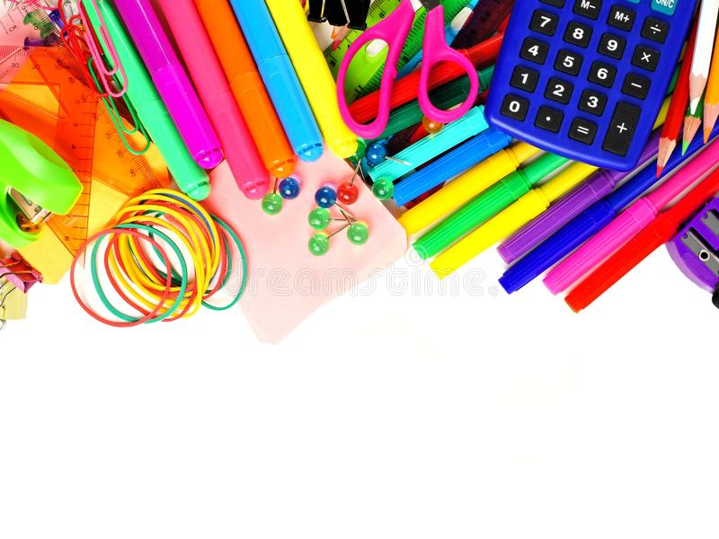 Fondo Utiles Escolares Vector: School Supplies Border Stock Photo. Image Of Markers