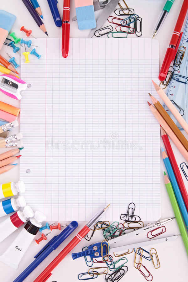 Download School supplies stock photo. Image of notebook, college - 32924252