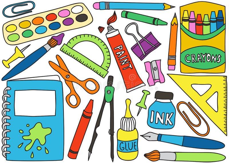School supplies drawings