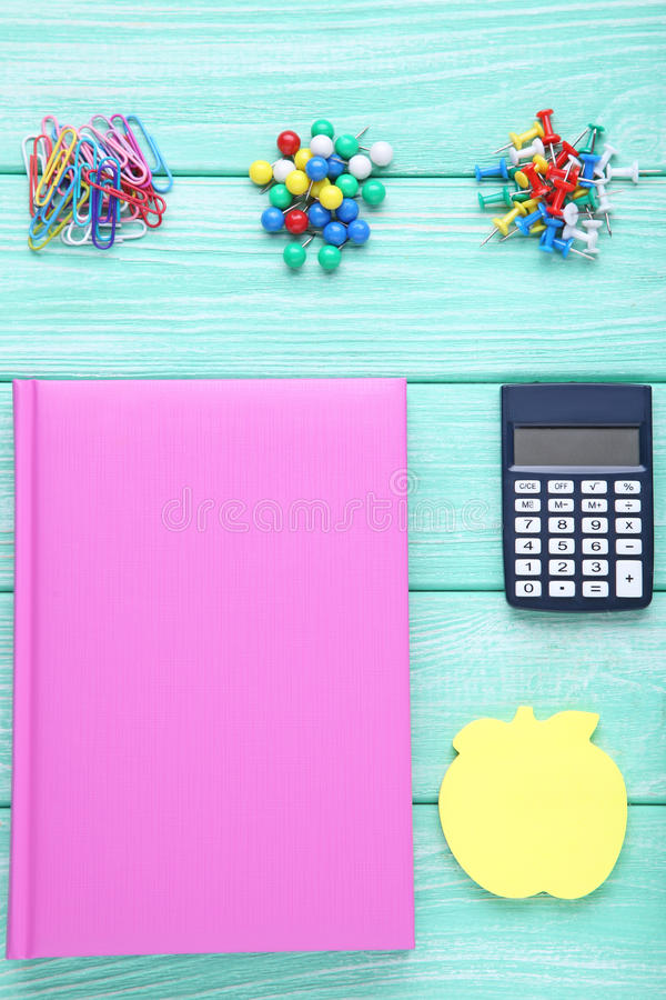 School supplies royalty free stock photography