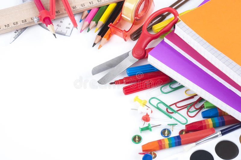 Download School supplies stock image. Image of pink, colorful - 33362021