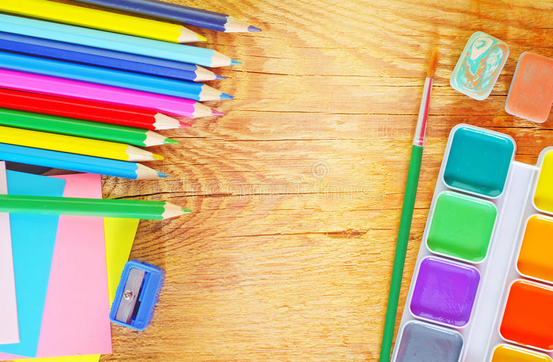 Download School supplies stock image. Image of accessory, paper - 38377355