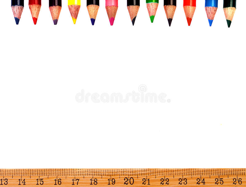 School supply frame stock photography