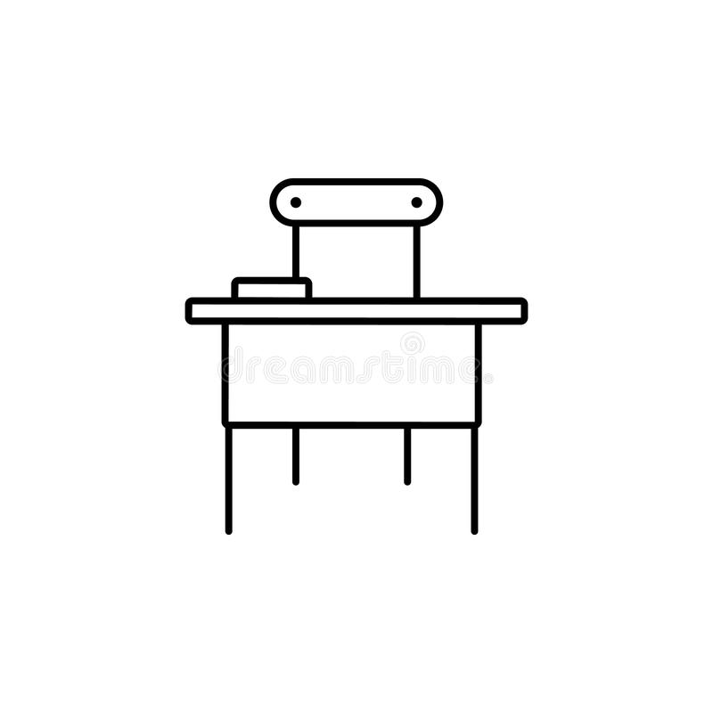 School table. Element of education icon for mobile concept and web apps. Thin line school table can be used for web and mobile. On white background vector illustration