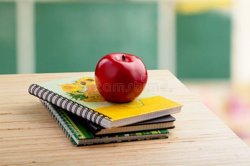 School teacher`s desk royalty free stock photo