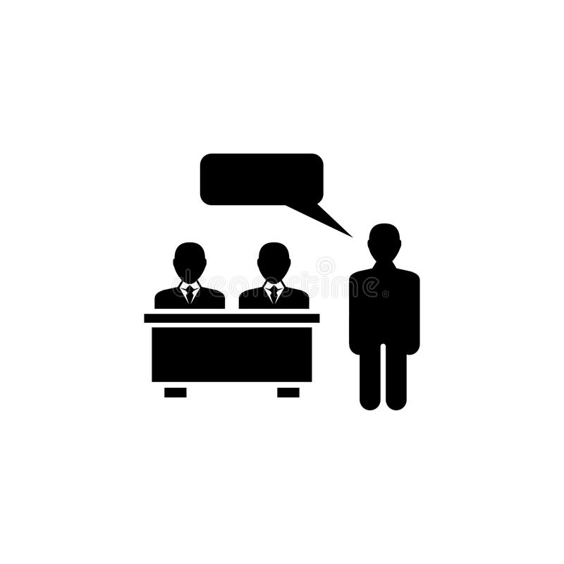 School Teacher and Student Flat Vector Icon royalty free illustration