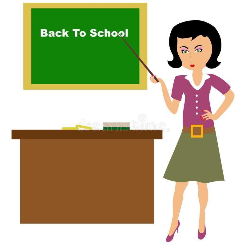 School teacher. Teaching in a classroom. very good back to school concept. Visit: https://graphixandcode.com stock illustration