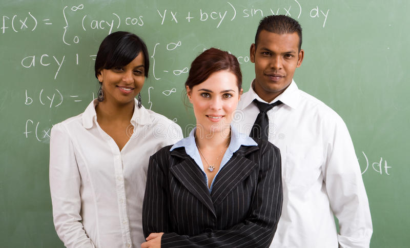 School teachers group royalty free stock image