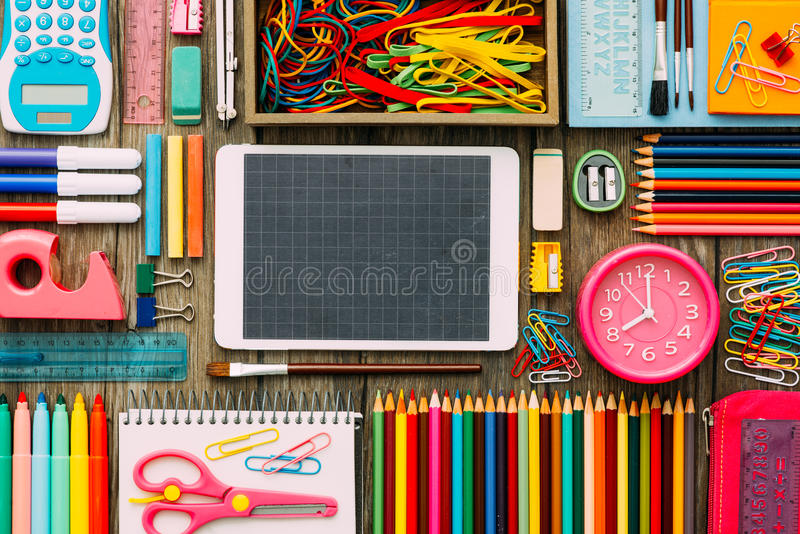 School and technology royalty free stock photo
