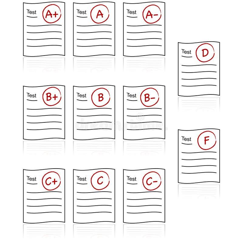 School tests stock illustration