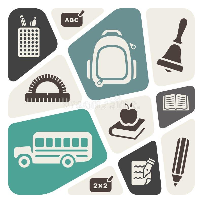 School theme background vector illustration