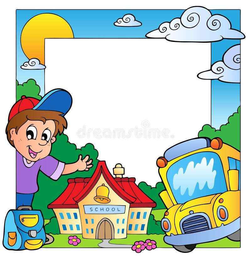 Download School theme frame 1 stock vector. Illustration of child - 20737338