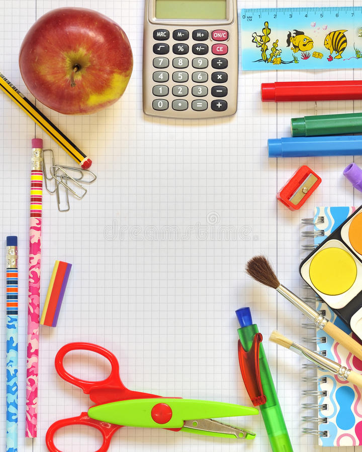 Download School things stock illustration. Image of image, colorful - 22049493