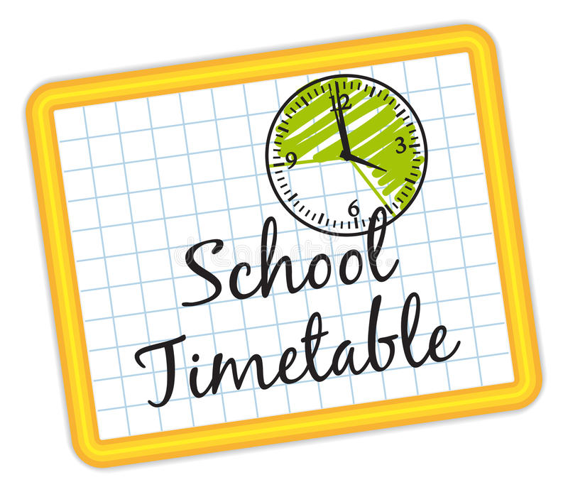 School Timetable. Illustration IV. Stock Vector - Illustration of plan,  rhythm: 43022477