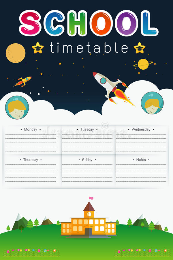 School Timetable royalty free illustration