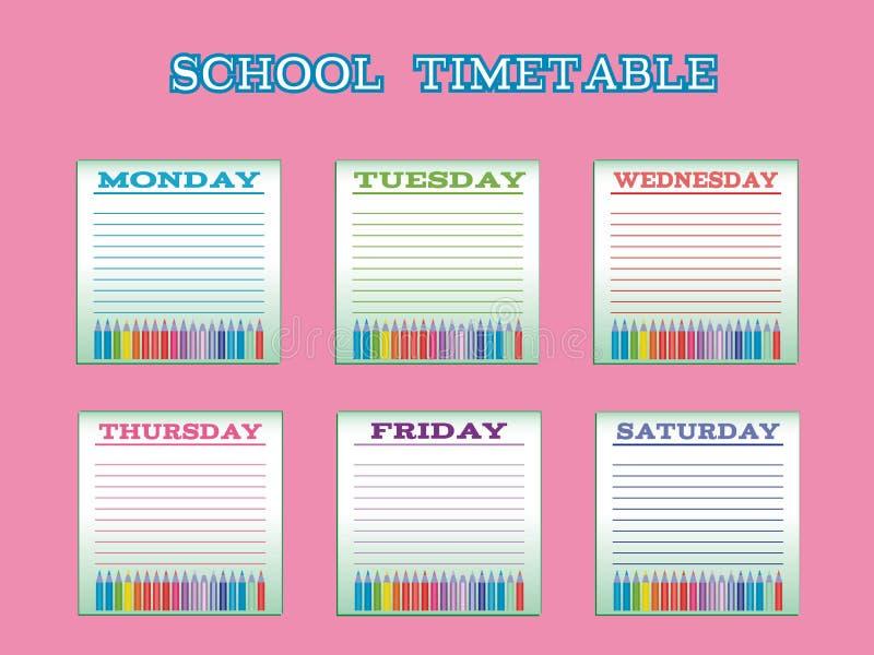week timetable