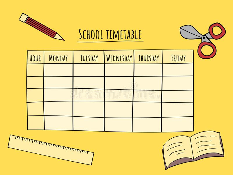 School Timetable Template Background Stock Illustrations – 2,116 School  Timetable Template Background Stock Illustrations, Vectors & Clipart -  Dreamstime