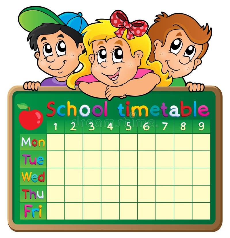 School timetable theme image 4 vector illustration