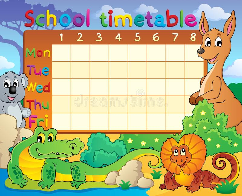 School timetable theme image 8. Eps10 vector illustration vector illustration