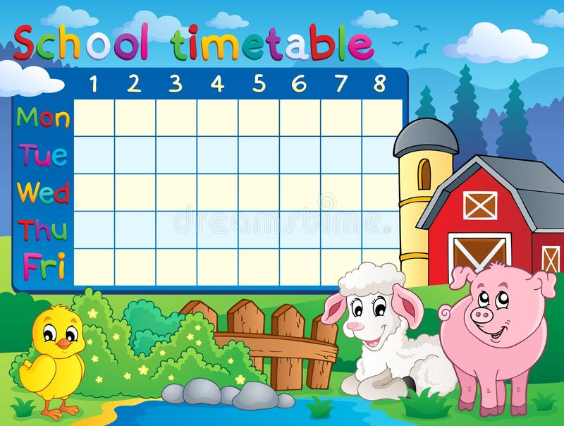 Download School Timetable Topic Image 1 Stock Vector - Image: 32484584
