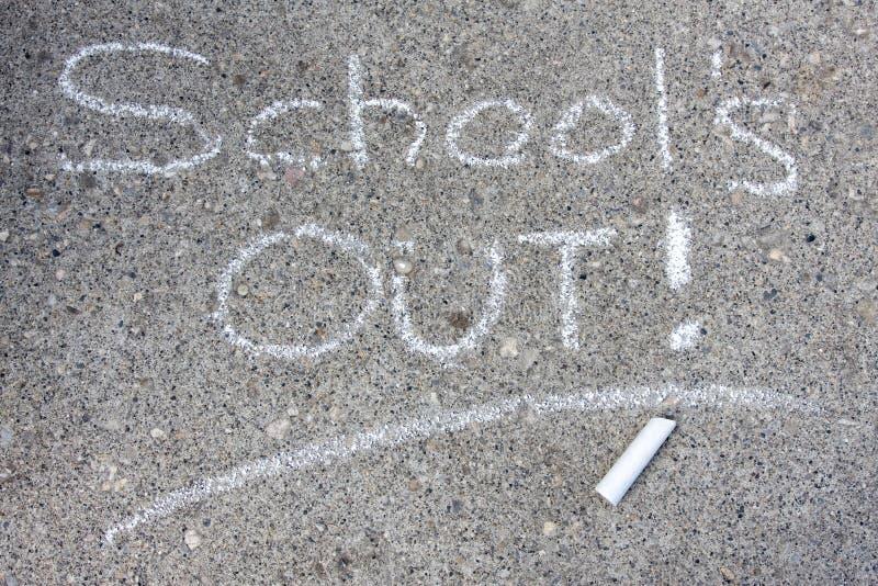 School uit stock fotografie