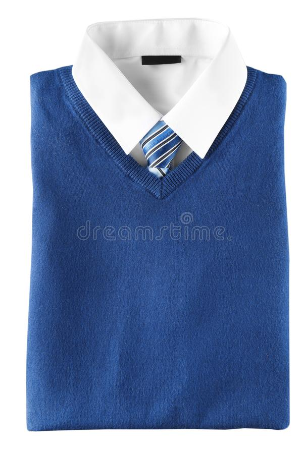 School uniform for boy. On white background stock photo