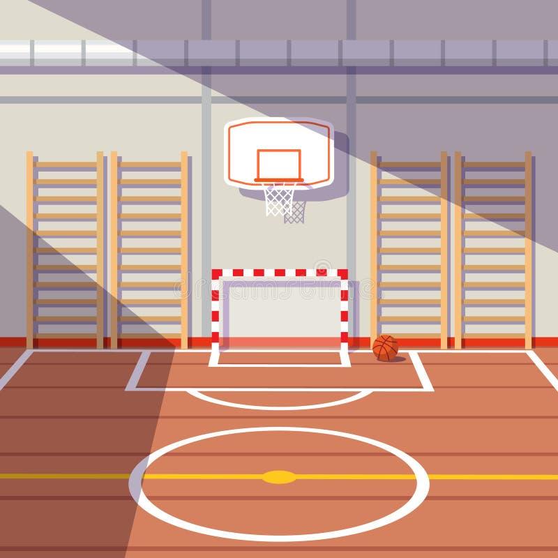 School Or University Gym Hall Stock Vector - Illustration ...