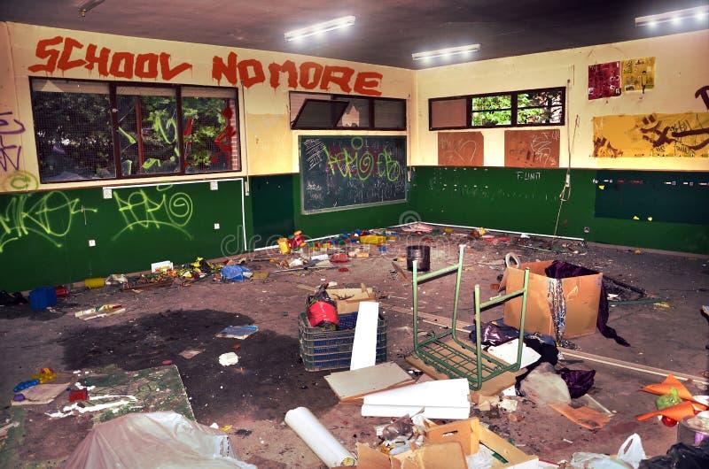 School vandalism stock image