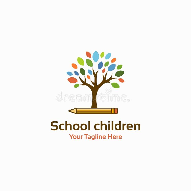 School vector logo. Original concept royalty free illustration