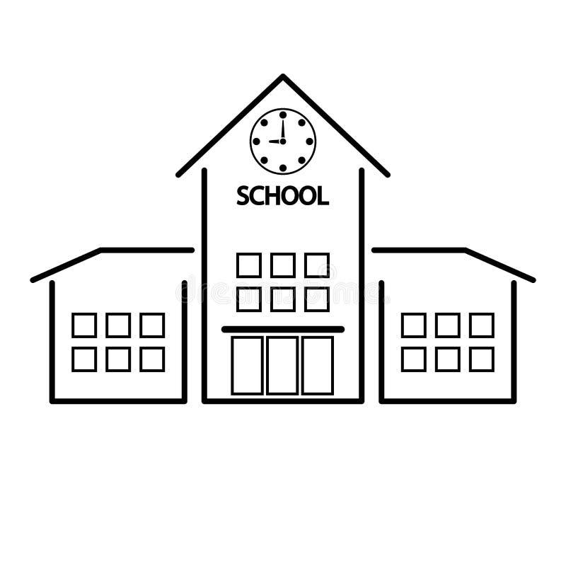 School vectorpictogram, de geïsoleerde bouw vector illustratie