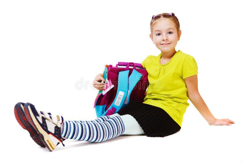 School verouderd meisje royalty-vrije stock afbeeldingen