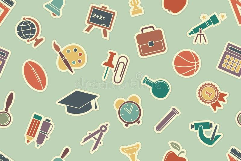 School vintage seamless background stock illustration