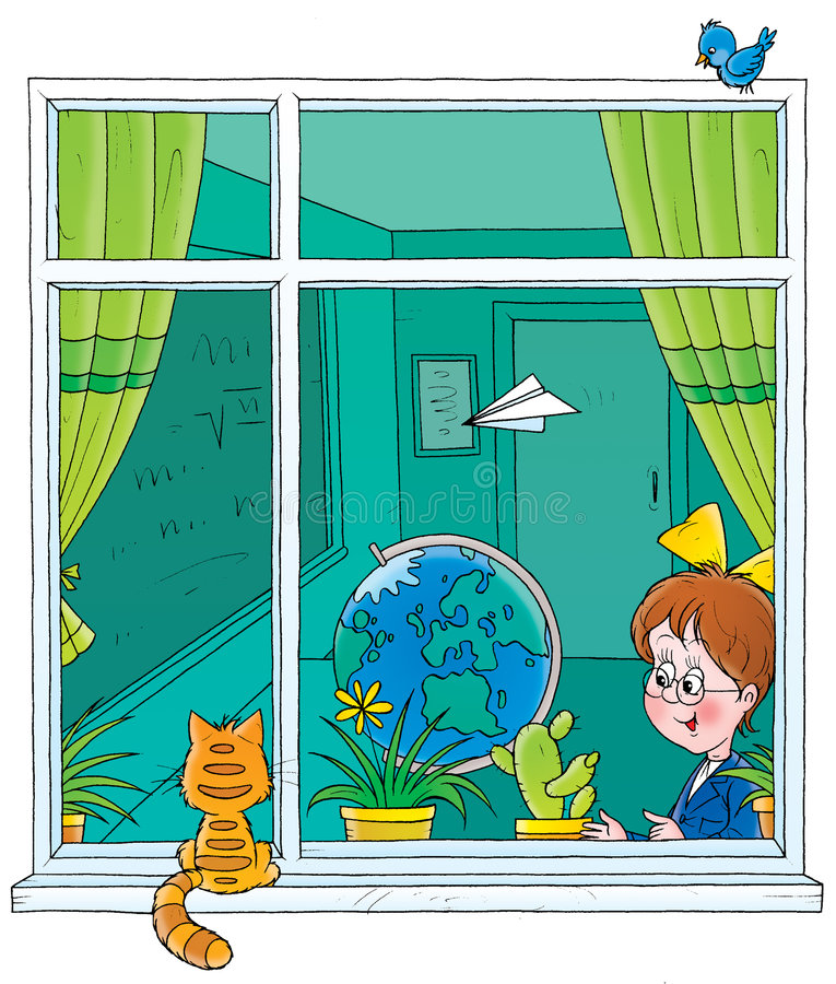 Download School window stock illustration. Image of cartoon, learning - 2196566