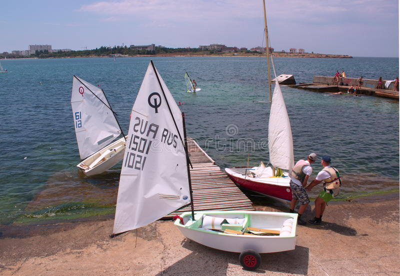 School of the yachting royalty free stock photos