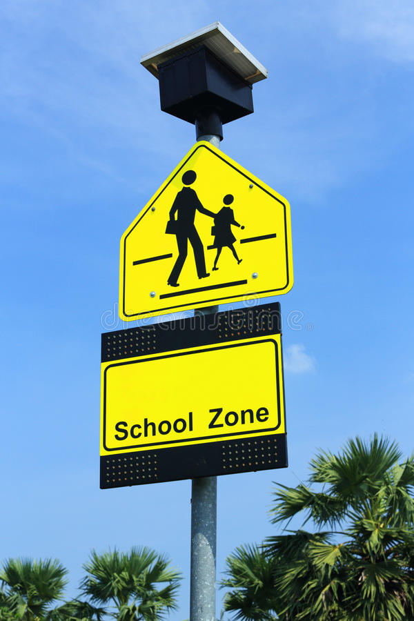 Download School zone sign stock photo. Image of carefully, background - 27243994