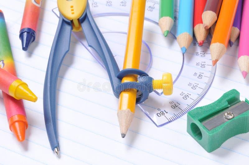 Schoolbehoeften stock fotografie