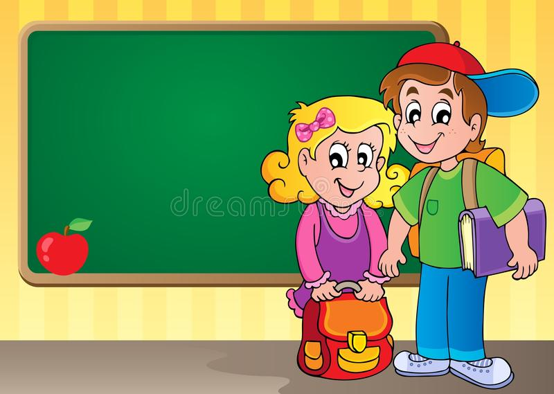 Schoolboard theme image 3 stock illustration