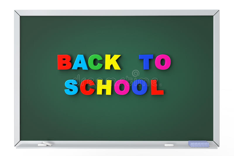 Schoolbord met terug naar schoolteken vector illustratie