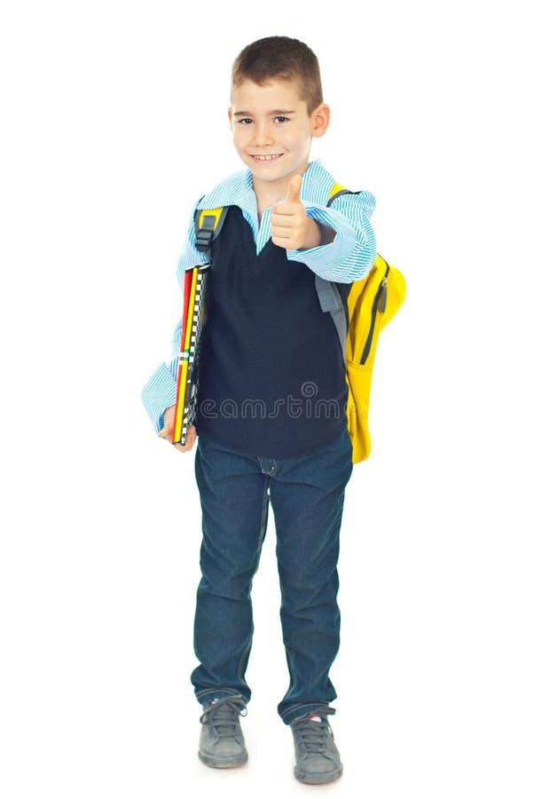 schoolboy επιτυχής στοκ εικόνες