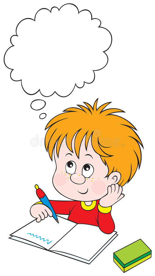 schoolboy μαθήματος διανυσματική απεικόνιση