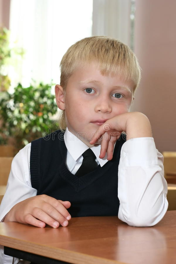 The schoolboy stock photography