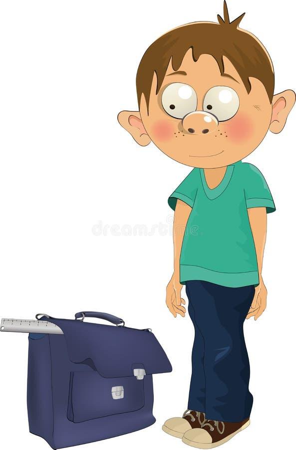 Download The schoolboy stock vector. Illustration of smile, childhood - 15662356