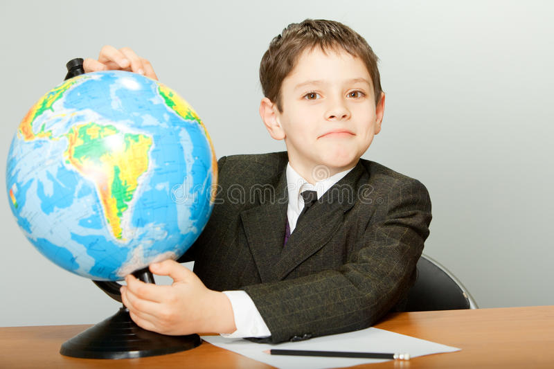 Download Schoolboy stock photo. Image of travel, teach, geography - 19030618