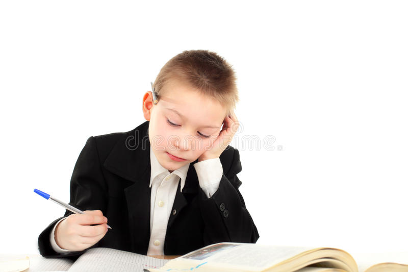 Download Schoolboy stock image. Image of serious, examination - 19323885